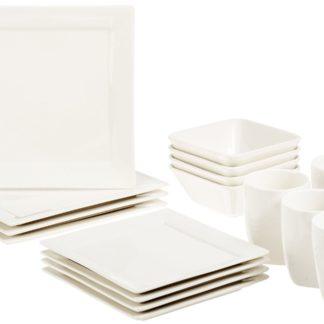 AmazonBasics 16-Piece Classic White